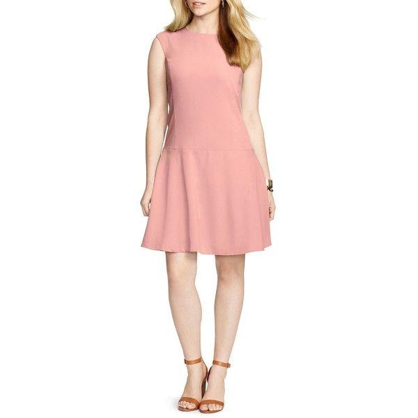 Lauren Ralph Lauren Plus Dropped Waist Dress 109 Liked On