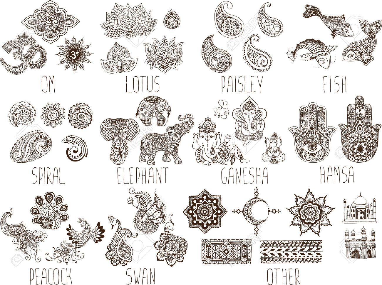 Image result for mehndi symbols and meanings henna pinterest image result for mehndi symbols and meanings buycottarizona Gallery
