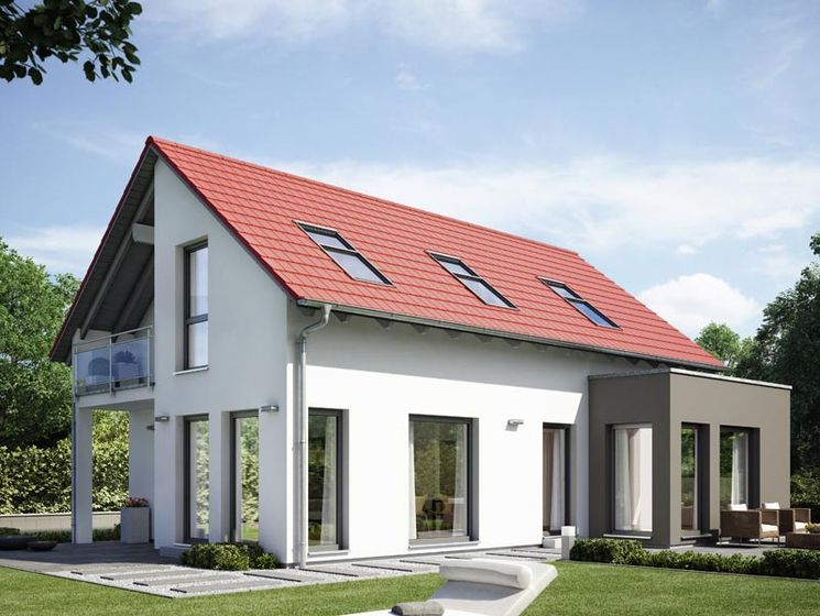 32++ Graues haus rotes dach ideen