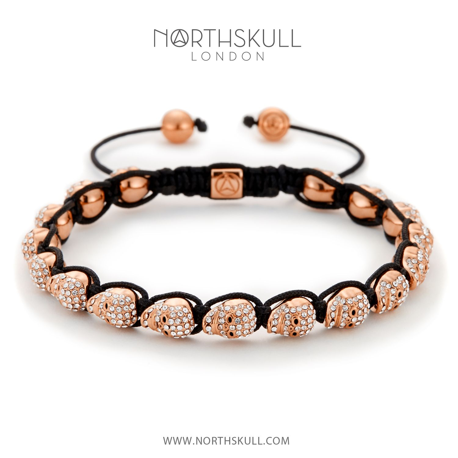 Our NEW Rose Gold & Clear Swarovski Crystal Micro Skull Bracelet is a stand out yet understated piece. Hand carved to an extremely high level of detail and set with precision cut clear Swarovski crystals, it's the ultimate accessory for modern looks   Available now at Northskull.com [Worldwide Shipping] #Luxury #Jewelry #MensFashion