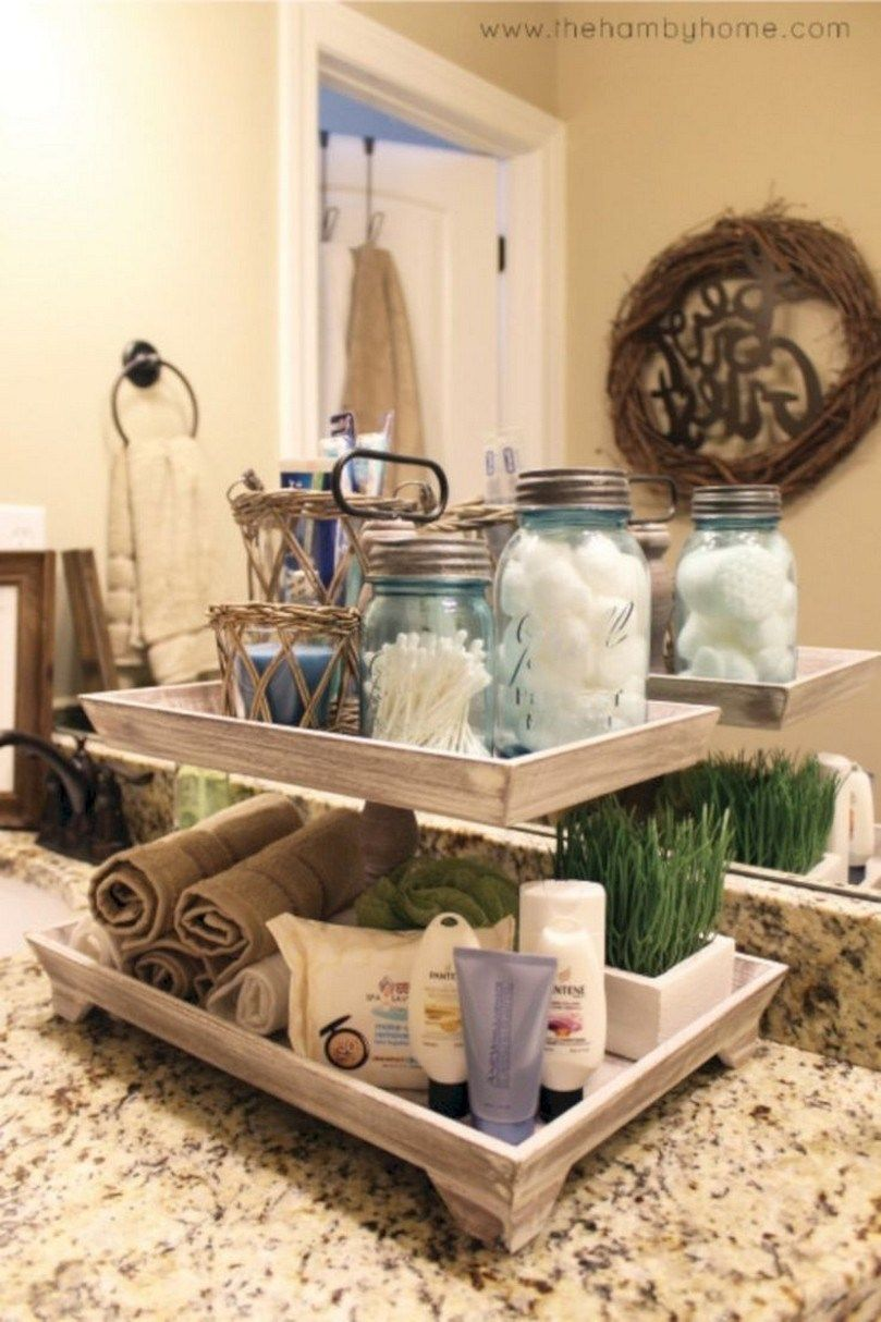 84 Smart First Apartment Decorating Ideas On A Budget That You Can Reach It Solnet Sy Com Bathroom Counter Decor Diy Bathroom Decor Rustic Bathroom Decor