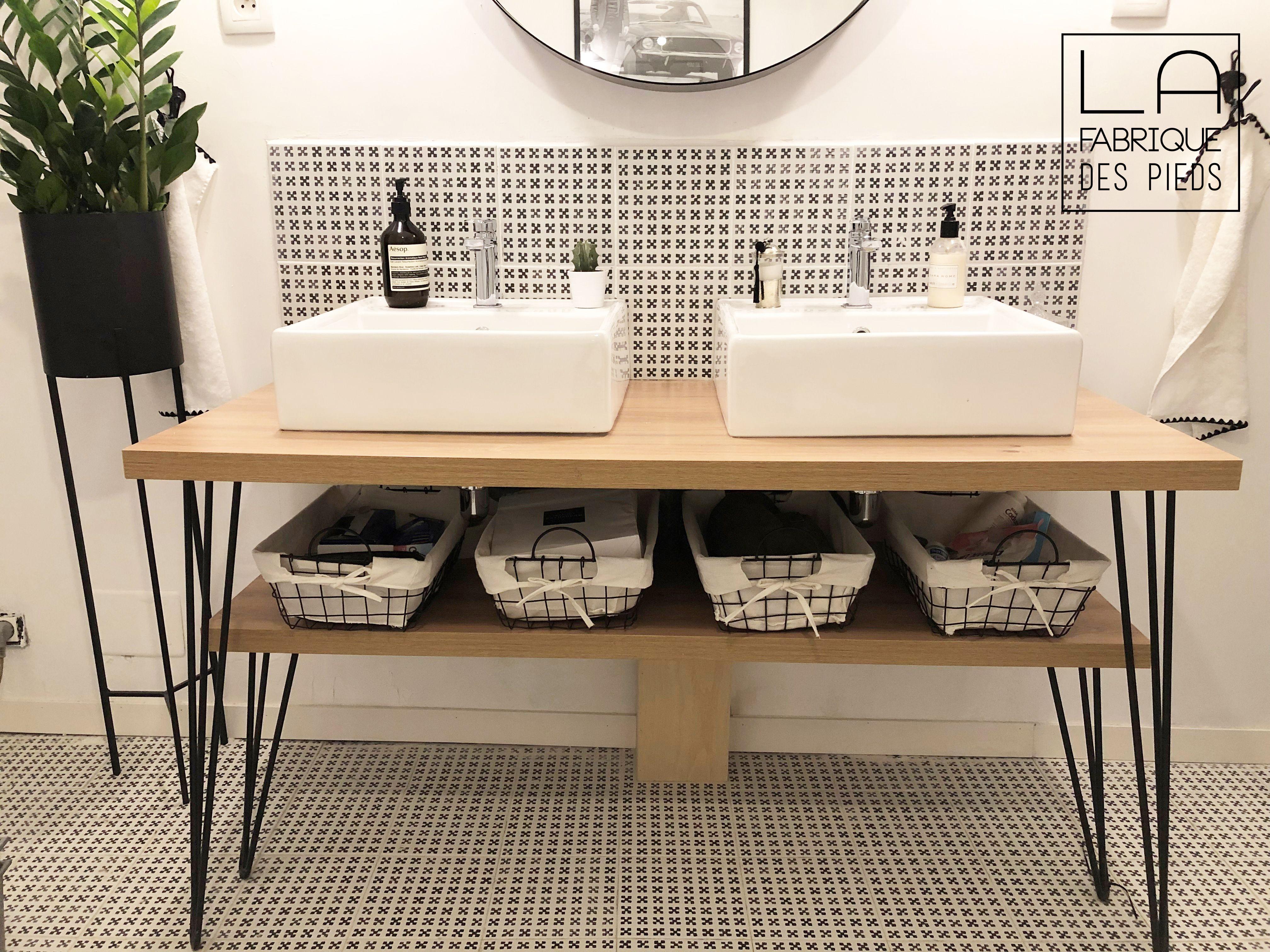 Pied Epingle Renforce Sur Mesure De 25 A 110 Cm En 2020 Meuble Vasque Diy Meuble Salle De Bain Et Idee Salle De Bain
