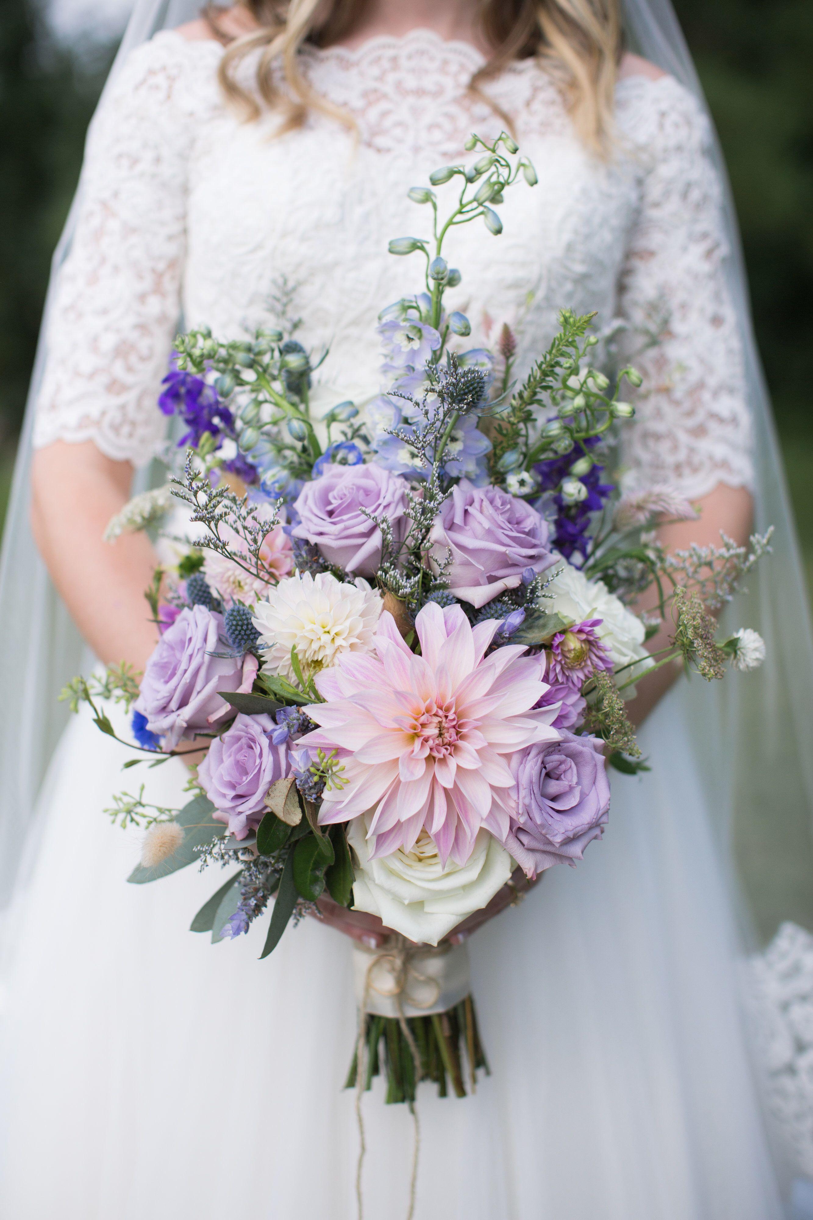 Lavender Wildflower Bridal Bouquet Purple Bridal Bouquet Purple Wedding Bouquets Lavender Bridal Bouquet