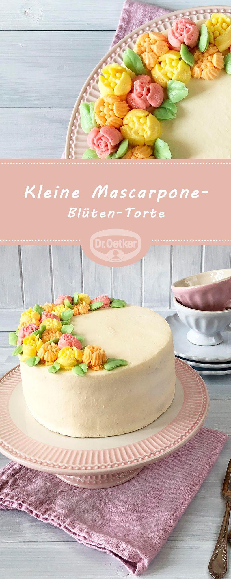 Kleine Mascarpone Bluten Torte Rezept Torten Rezepte Leckere Torten Kuchen Und Torten