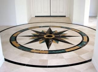 floor tile medallions patterns | tile and marble medallions design ...