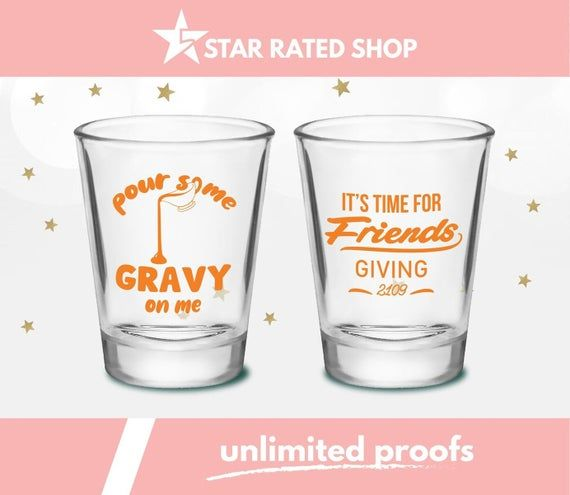Shot Glasses, Shot Glass, Thanksgiving Shot Glass