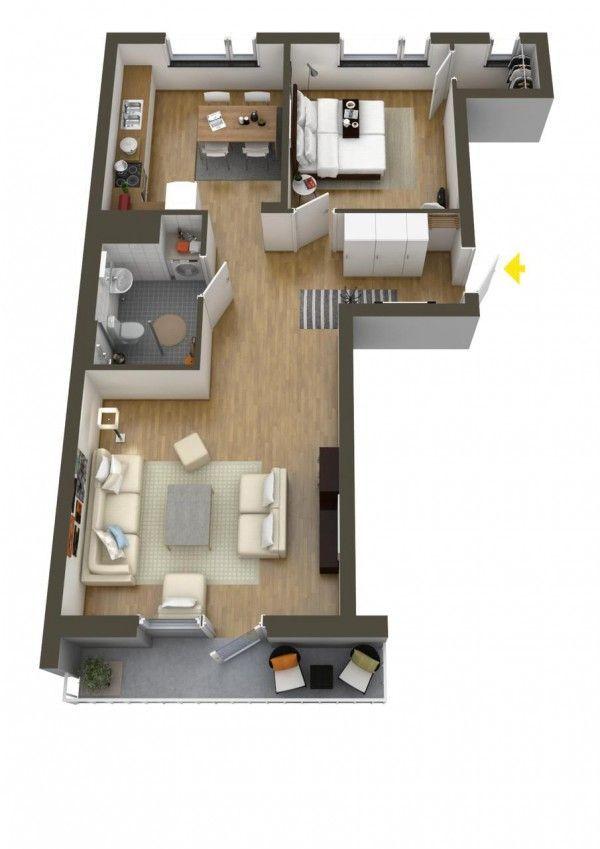 Merveilleux 40 More 1 Bedroom Home Floor Plans   Http://whitetiles.info/