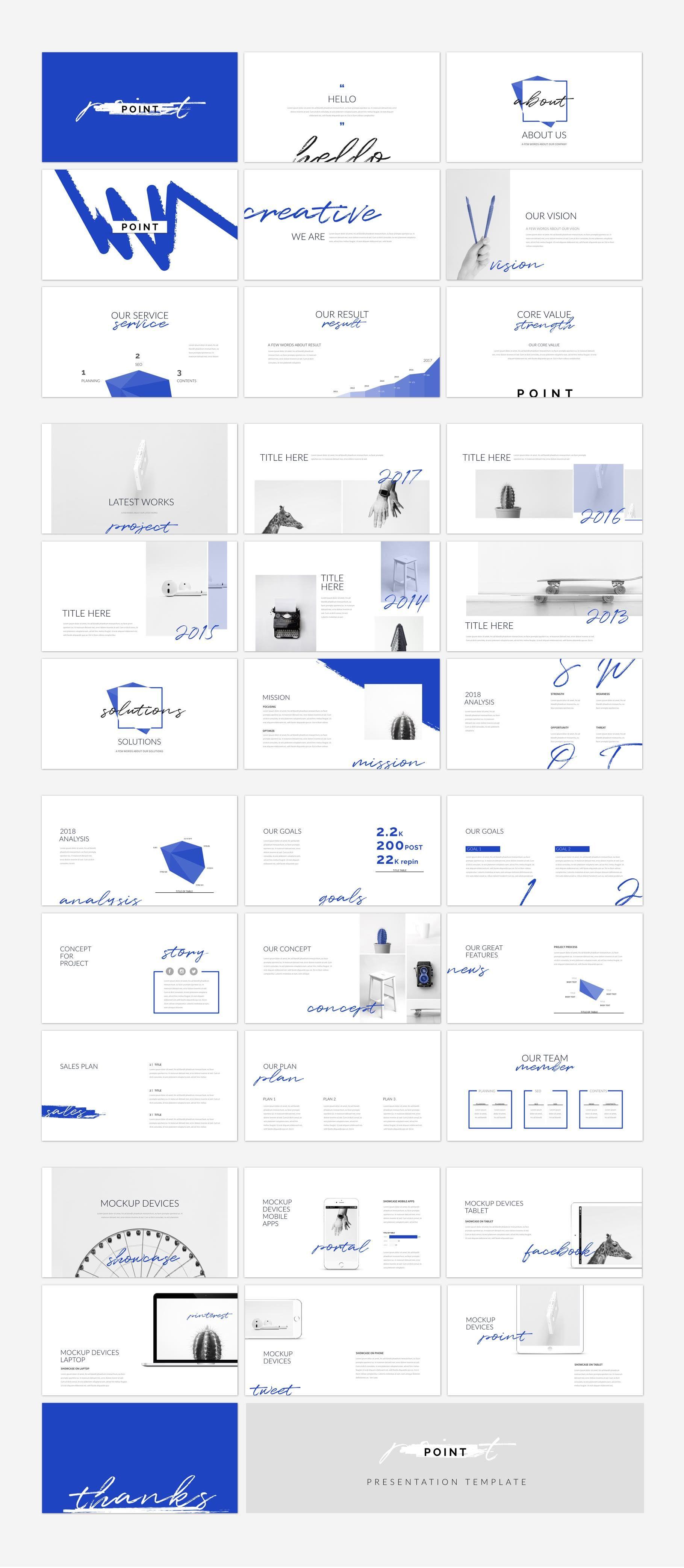 Cool Simple Layout Point Keynote Presentation Template Portfolio Business Design Corporate