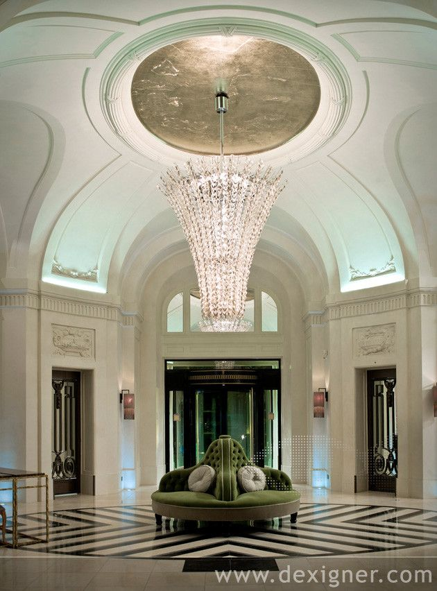 The Lobby of the Trianon Palace Hotel Wins the European Hotel ...