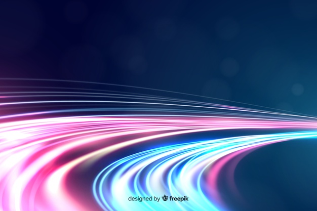 Download Colorful Neon Wavy Light Trail Background For Free Light Trails Background Vector Photo