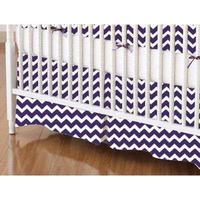 Sheetworld Chevron Zigzag Crib Skirt Color: