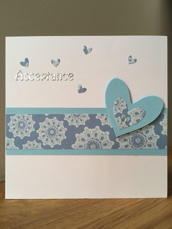 Handmade Wedding Acceptance Card Heart Jooboo Cards Pinterest And