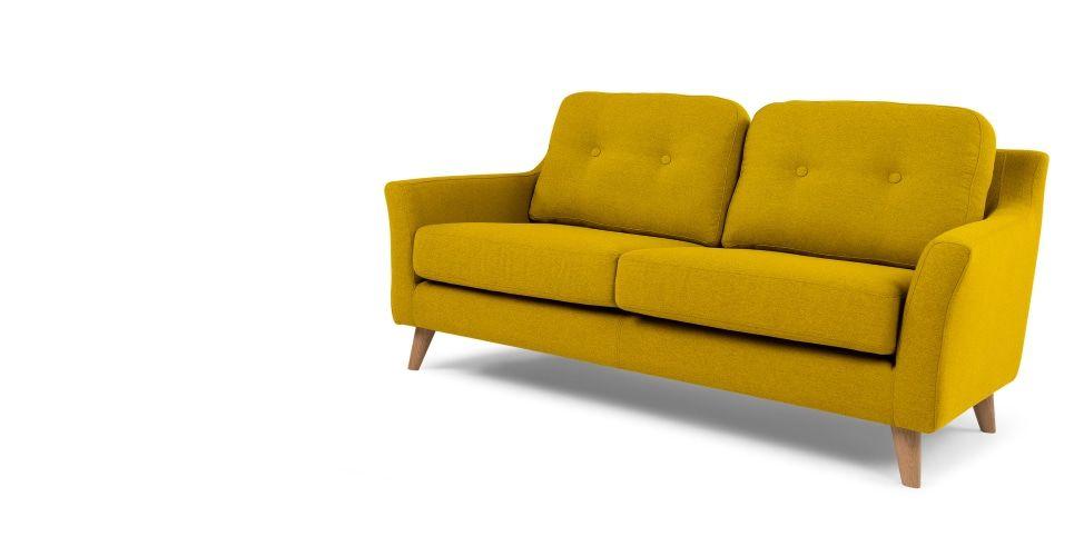 Rufus 2 Seater Sofa Mustard Yellow Furniture 2 Seater Sofa