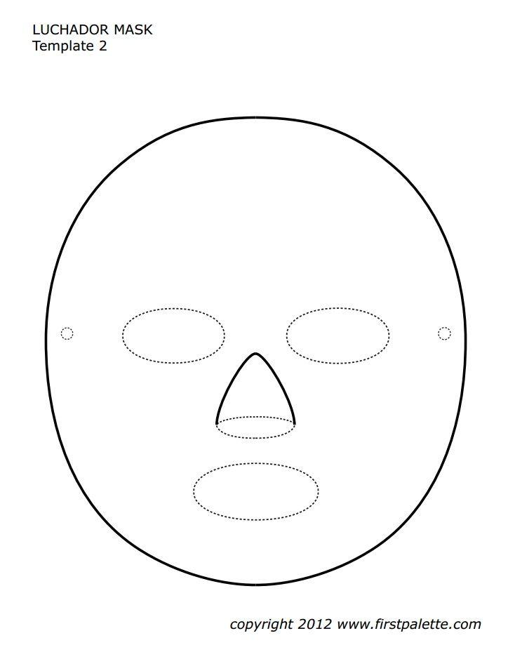 Luchador Mask Template cinco de mayo Pinterest Mask template - free printable face masks