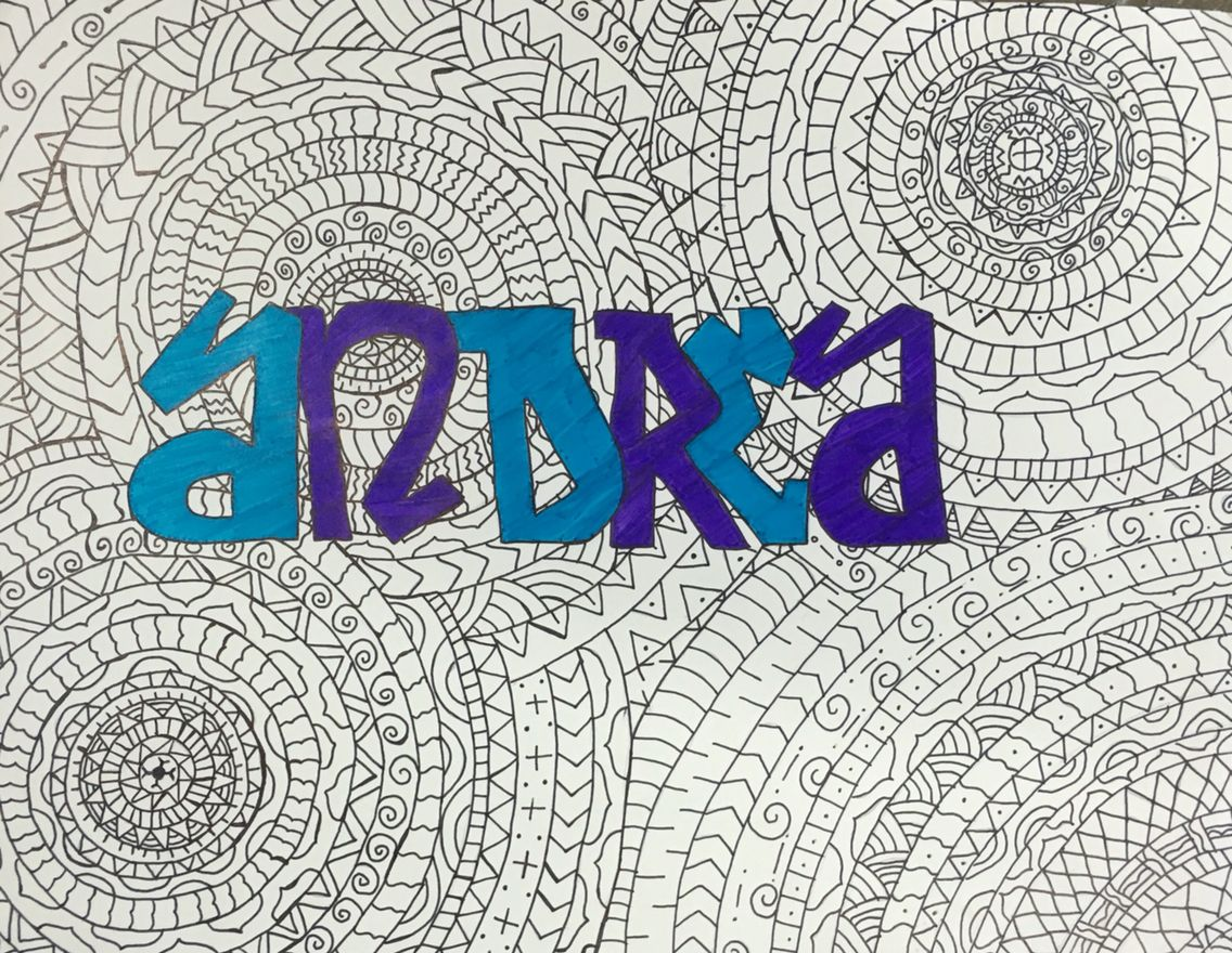 Graffiti Name Art Andrea By One Of My Students From Collins Middle