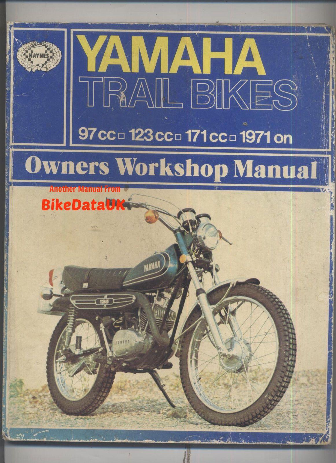 yamaha and trail bikes owner s workshop yamaha 100 125 and 175 trail bikes 1971 85 owner s workshop manual by mansur darlington paperback 1986