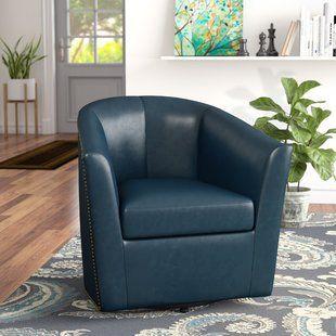 Orren Ellis Teesha Swivel Barrel Chair | Barrel chair ...