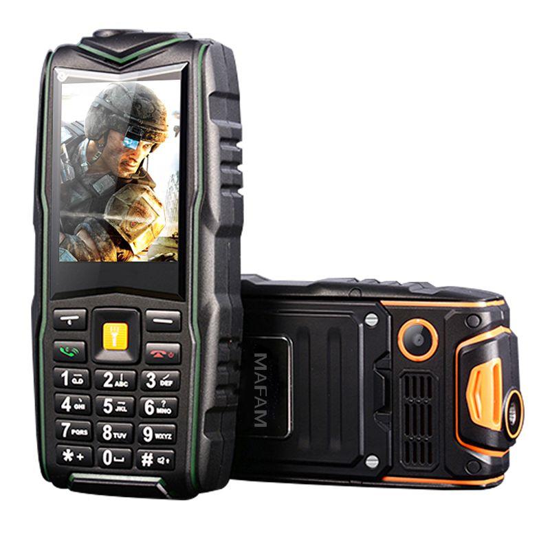 MAFAM F8 IP67 impermeable 8800 mAh tarjeta dual a prueba de golpes call recorder antorcha larga espera FM cargador del banco de potencia teléfono resistente P128