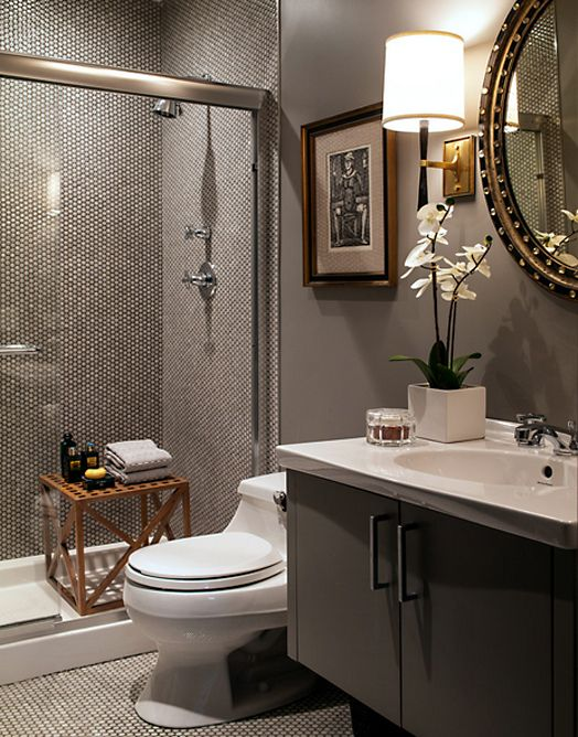 the tiny tiles echo the detail in the mirror pretty on bathroom renovation ideas nz id=60171