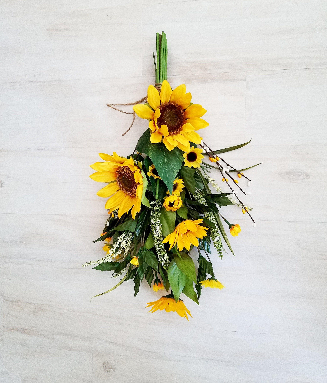 Sunflower Gift home decor artificial ready ship wreath ...