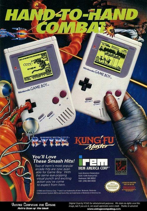 Gameboy R Type Amp Kung Fu Master Advert Retro Video Games Gameboy Retro Gaming