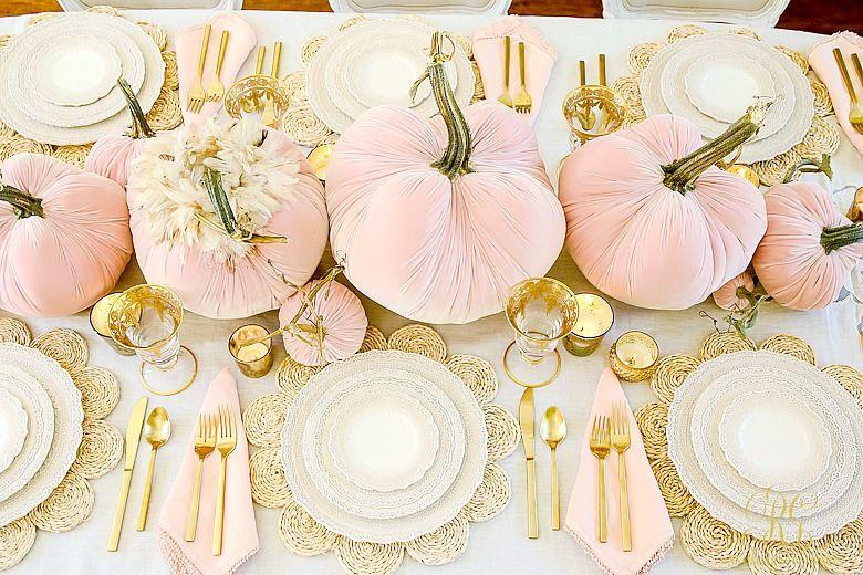 Pink Pumpkin Fall Tablescape - Randi Garrett Design