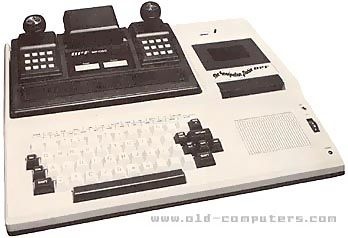 """APF Imagination Machine This strange hybrid computer came in two parts: a videogame console and a computer. The game system, called the APF MP-1000, was released in 1978. It had two controlers, each with a joystick and a numeric keypad. It came with a built-in game called """"Rocket Patrol"""". The computer console, the """"Imagination Machine"""" was sold as an add-on for the MP-1000. You could also buy both at the same time (most people did)."""