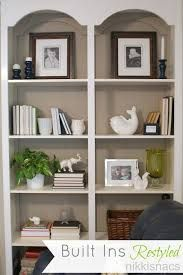 Image Result For Elegant Open Back White Built In Bookshelves
