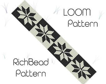 Seed bead bracelet pattern, Monochrome jewelry, White