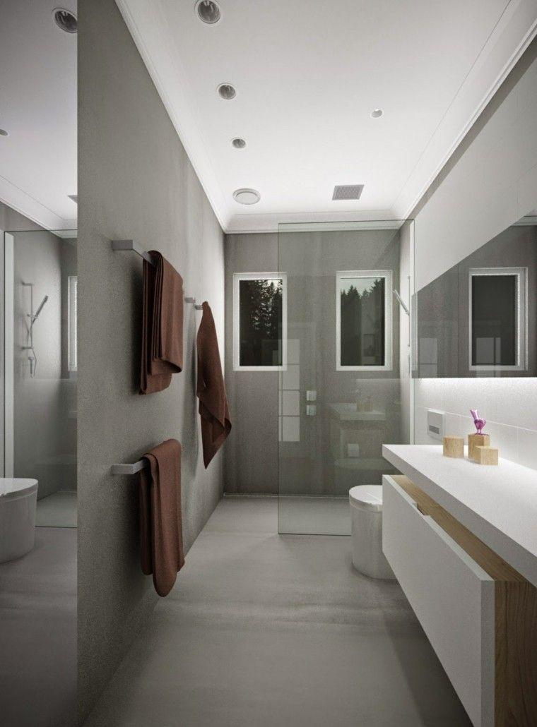 Ba os modernos con ducha 50 dise os impresionantes ba os - Banos disenos modernos ...