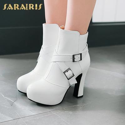 Sarairis Zip Up Plus Size 33 46 Buty Na Platformie Buty Damskie Botki Buty Na Wysokim Obcasie Buty Damskie Kupic W Niskich Cenach W Sk Ankle Boot Shoes Boots