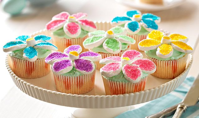 Flower Power Cupcakes | Easter recipes, Desserts, Kraft ...