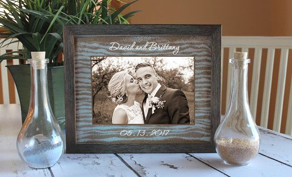Unity Sand Ceremony Frame Set In Dark By SayAnythingDesign On Etsy