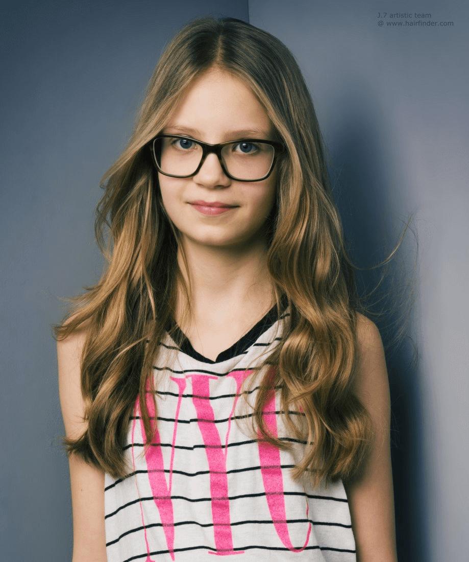 Lange haare frisuren brille