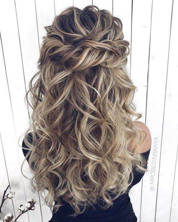 Long half up half down wedding hairstyles from mpobedinskaya #wedding explore Pinterest