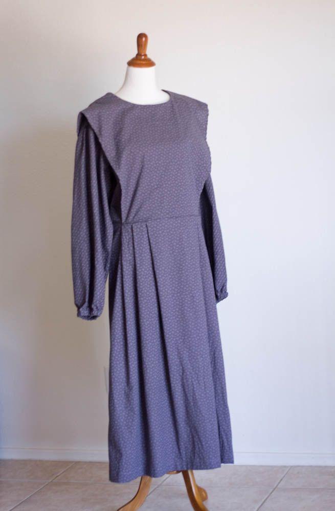 purple floral cape dress size large modest plain