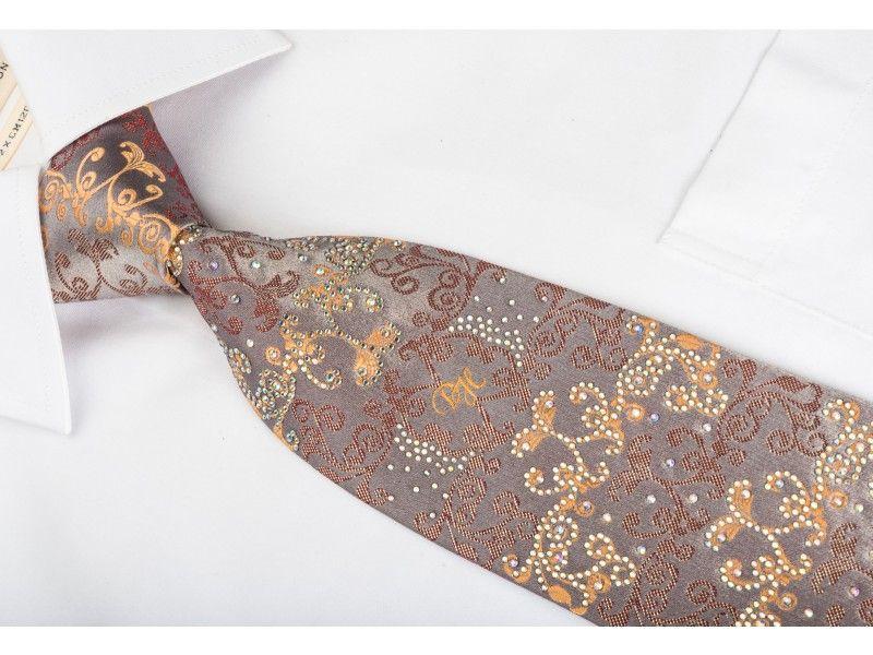 https://www.san-dee.com/rhinestone-ties/brand/daniel-hechter/daniel-hechter-rhinestone-silk-necktie-damask-on-light-brown-with-sparkles.html