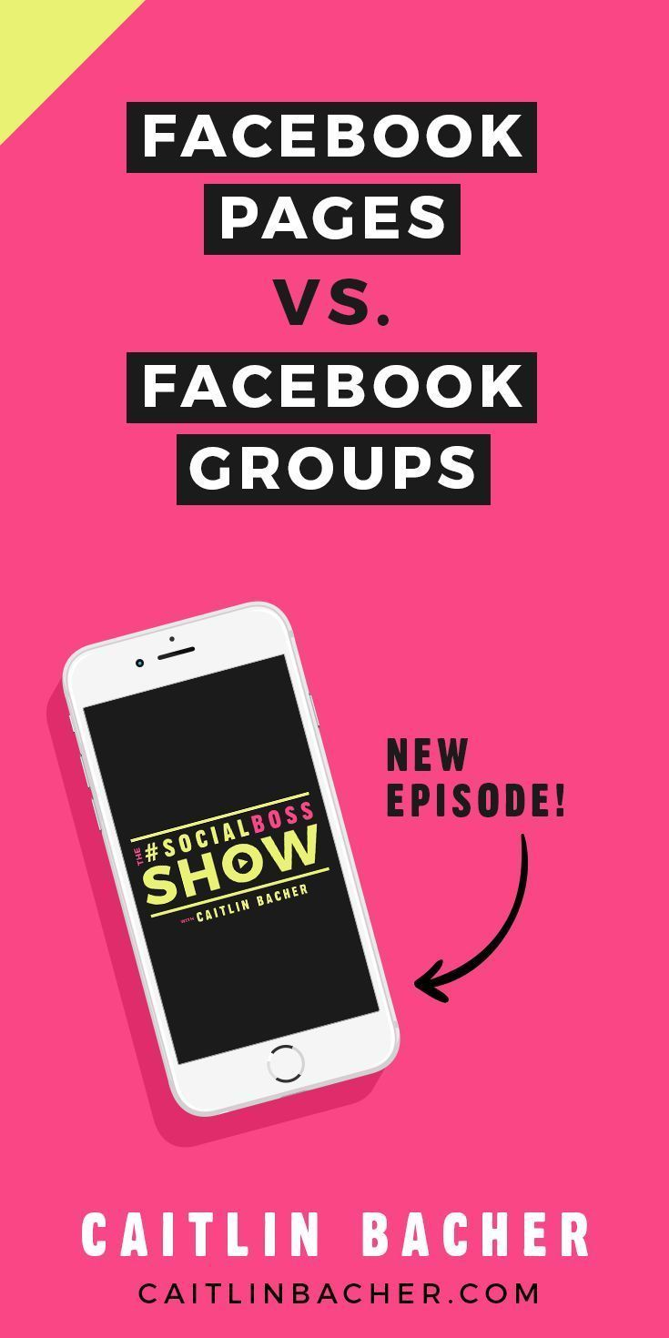 Facebook Pages vs. Facebook Groups   Facebook Groups   Social Media Tips   Business Tips   Facebook Marketing   caitlinbacher.com - Learn how I made it to 100K in one months with e-commerce!