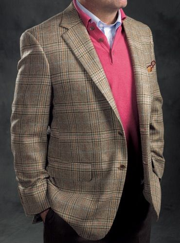 1f563d3484 Beige and Nutmeg Glen Plaid Wool Sport Coat with Multi-Color ...