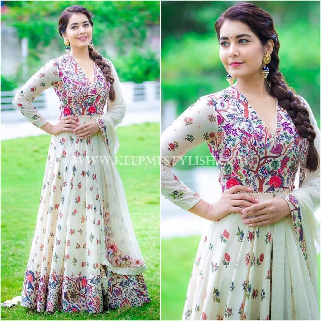 Hairstyle for floor length anarkali and indian maxi dress formal