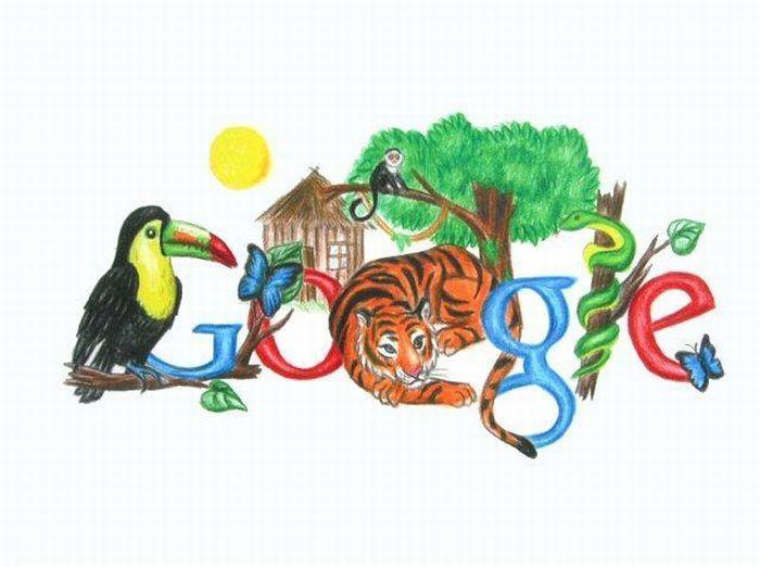 Google Jungle   Design   Google doodles, Doodle for google