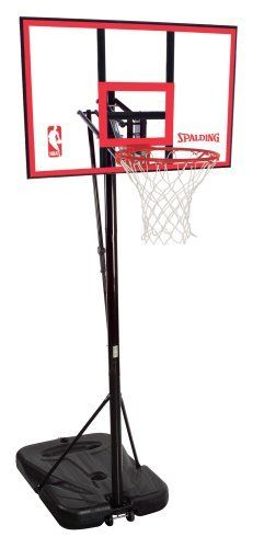 Spalding 72351 Portable Basketball System With 44 Inch Polycarbonate Backboard By Spalding 219 01 Amazo Basketball Systems Portable Basketball Hoop Spalding