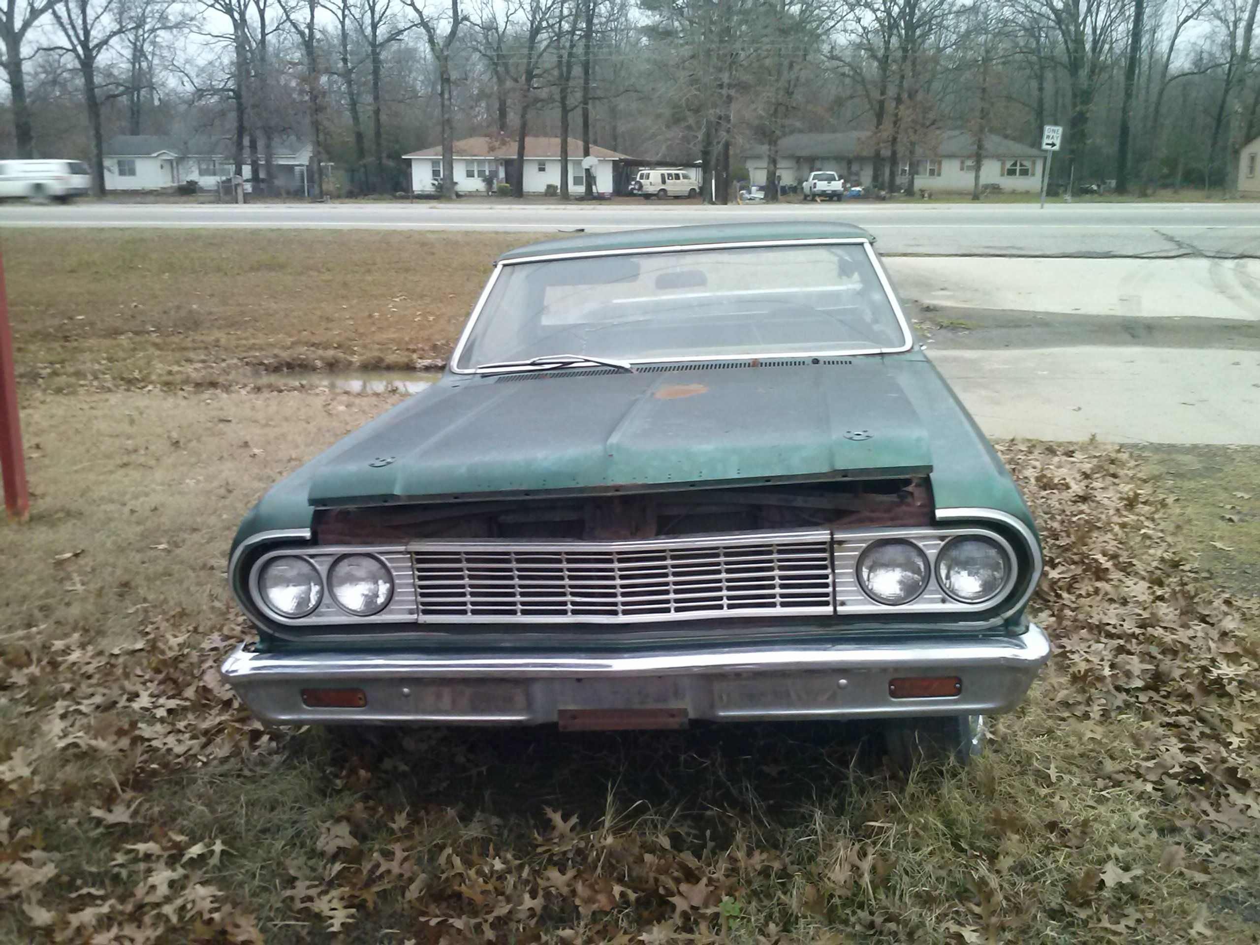hight resolution of either a 64 or 65 chevy el camino six cylinder engine rusted out floorboards van buren arkansas tripper s travels