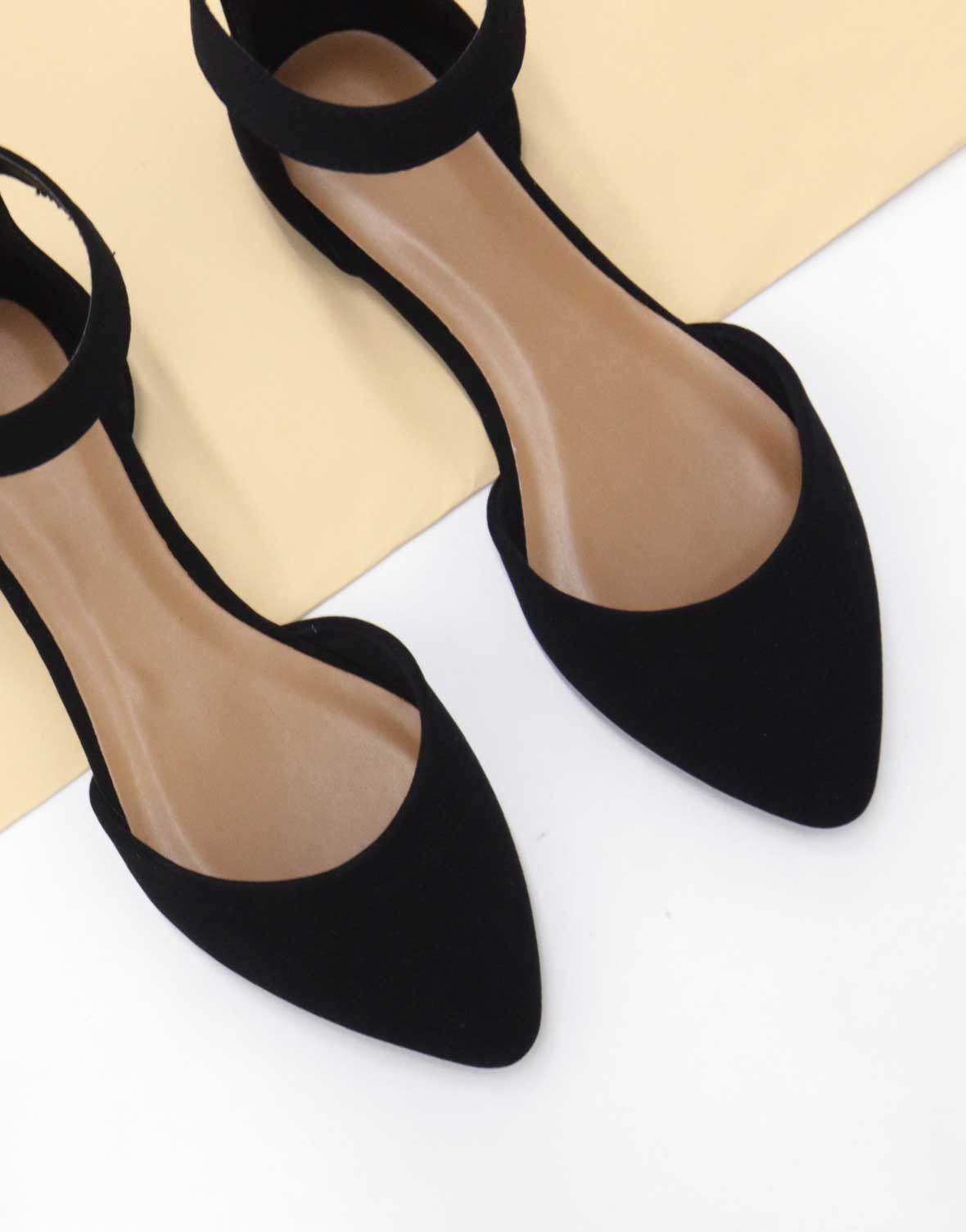 2db181a18c61 Date  05 15 17 Take on this new form of ballerina flats. These Ankle  Strapped Flats come in a natural or black color of your choice.