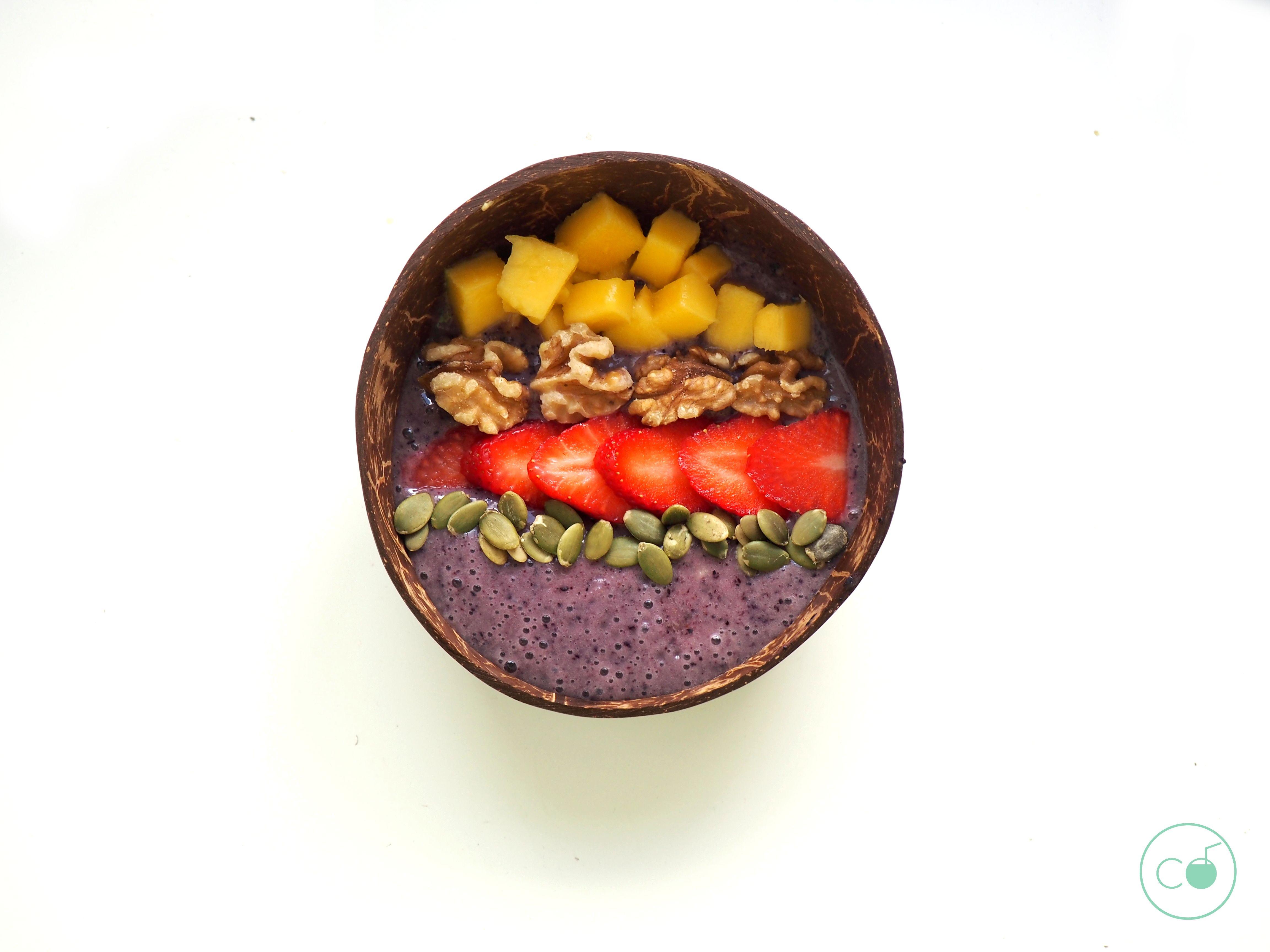 receta açai bowl saludable
