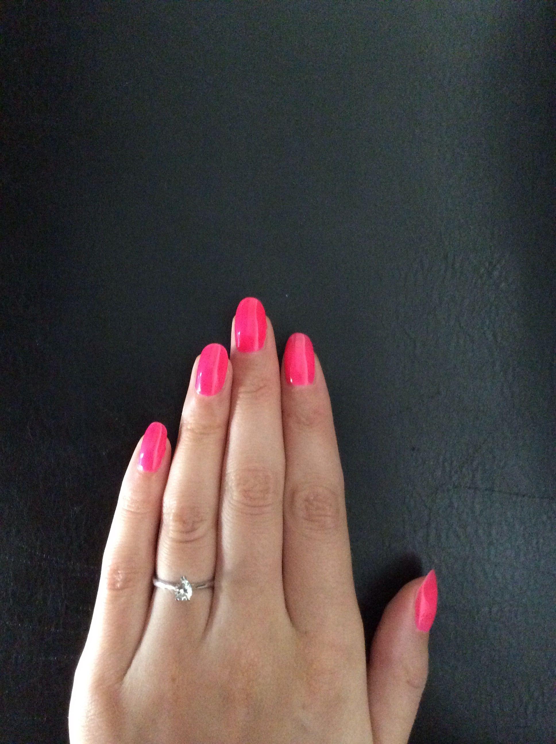 Bluesky neon shocking pink shellac | Shellac nails | Pinterest