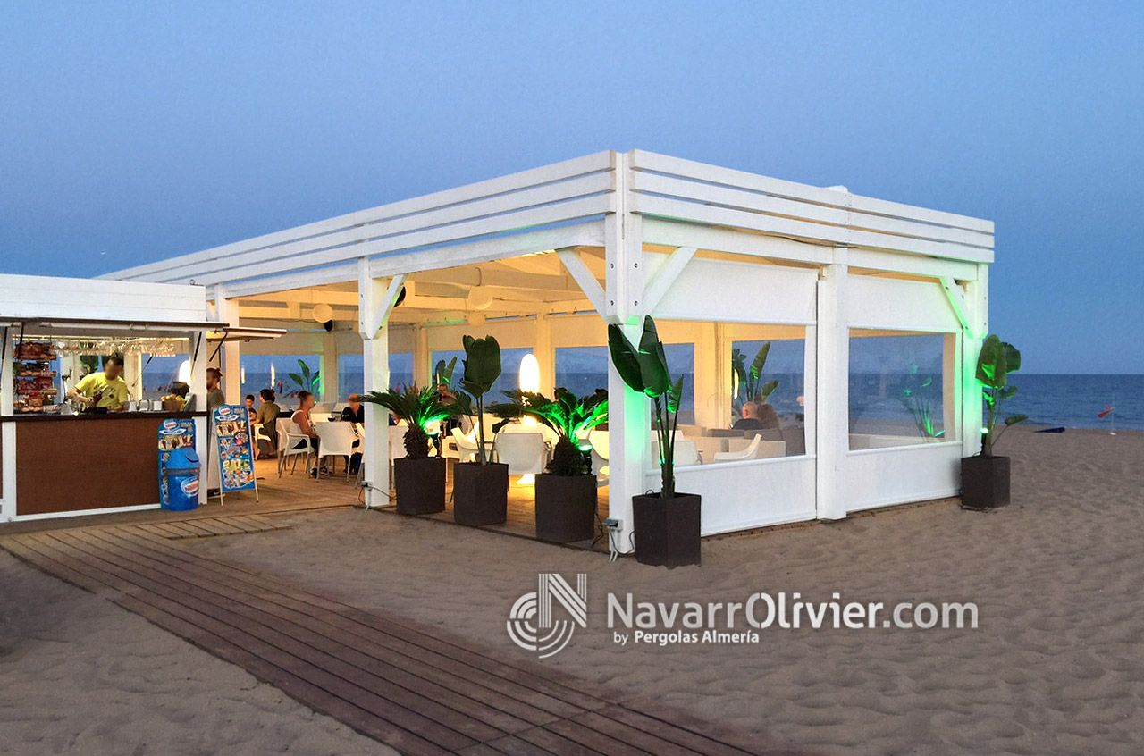 Land beach gav chiringuito modular de temporada con - Terraza chill out ...