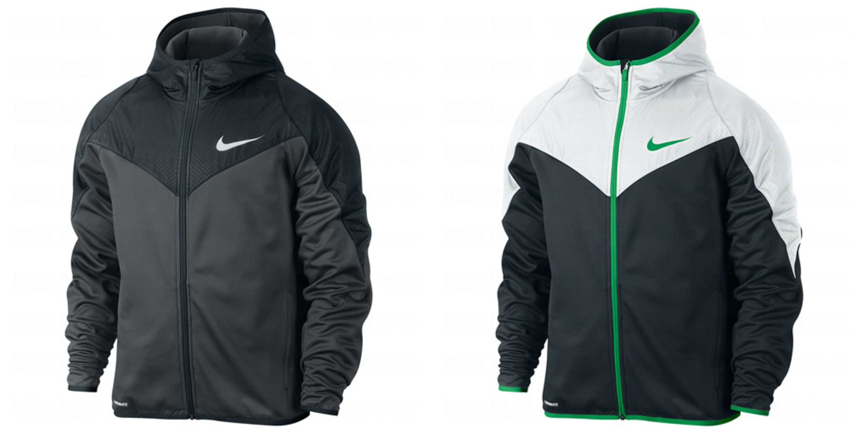 NIKE Mens Therma-Fit GPX Full Zip Poly Hooded Jacket #NIKE #ThermaFit #