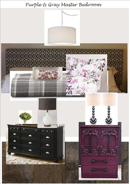 PeaHen Pad: Purple & Gray Master Bedroom, 452x640 in 84.1KB
