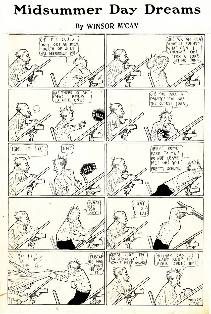 Some classic early metacomics by Winsor McCay.